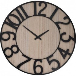 RELOJ PARED MAD/MET. 57X4...